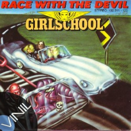 Vinil: GIRLSCHOOL - Race with the devil
